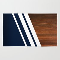 wooden Area & Throw Rugs featuring Wooden Navy by Nicklas Gustafsson