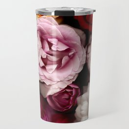 Red, White, Yellow, and Pink Roses Travel Mug