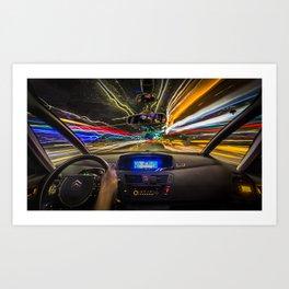 Speed City Art Print