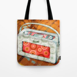 Cosy sounds on the radio Tote Bag