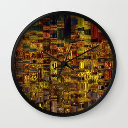 Colors of the City Wall Clock