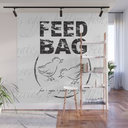 FEED BAG/Black & White Wall Mural