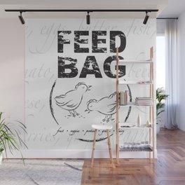 FEED BAG/Black & White Wall Mural