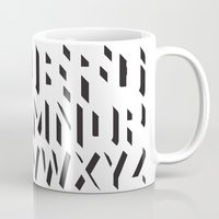 alphabet Mugs featuring Alphabet by Art Goes Up