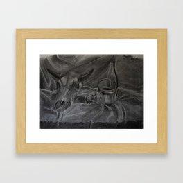 Beauty and the Bone Framed Art Print