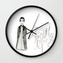cafe girl Wall Clock
