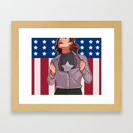 HIT 'EM AGAIN CAP Framed Art Print