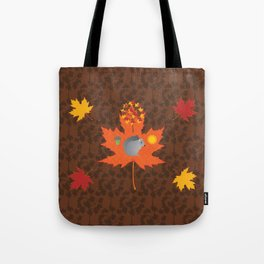 Grey Squirrel Autumn Pattern Tote Bag