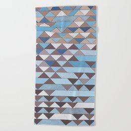 Triangle Pattern No.6 Crisp Blue Beach Towel