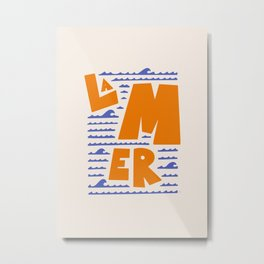La Mer French Sea Metal Print