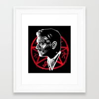 supernatural Framed Art Prints featuring Supernatural by Grace Mutton