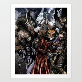 Caravans of Blood Pass Art Print