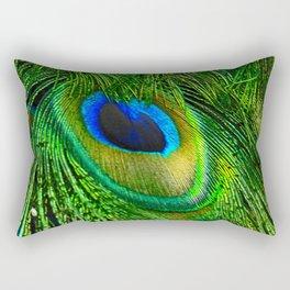 Peacock Glitter Rectangular Pillow