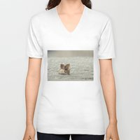 sparkles V-neck T-shirts featuring among sparkles by Bonnie Jakobsen-Martin