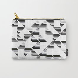 Triangle shapes in black and white Carry-All Pouch
