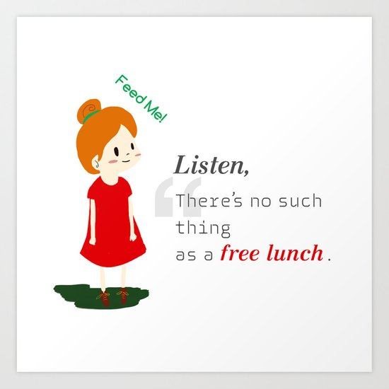 Free lunch Art Print