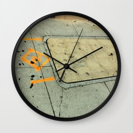 Two Of Diamonds Wall Clock