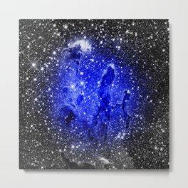 Galaxy : Pillars of Creation Blue Metal Print