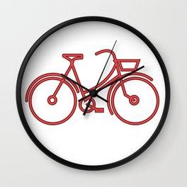 neon bike Wall Clock