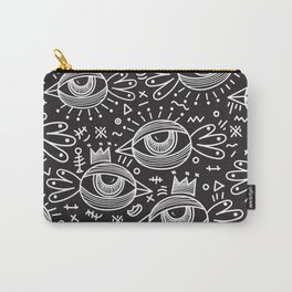 Black Birds Eye View Carry-All Pouch