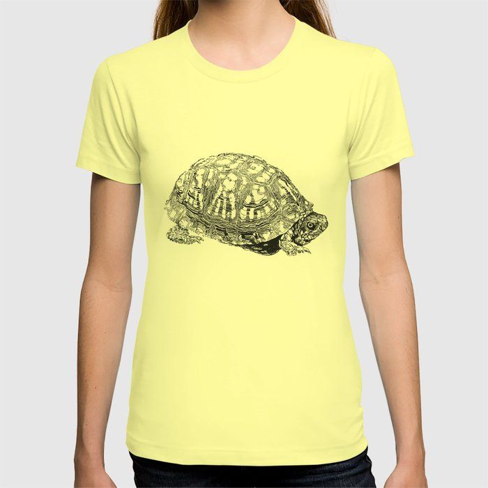 box turtle drawing t shirt by dparker society6