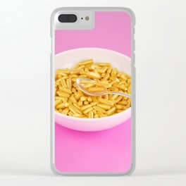 Dangerous Breakfast Clear iPhone Case