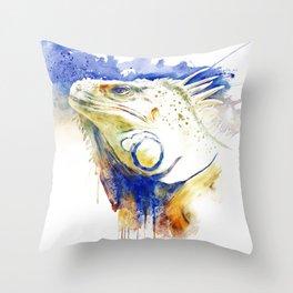 Iguana Head Throw Pillow