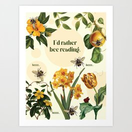 Reading Bee Art Print
