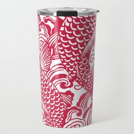 Red Koi Travel Mug