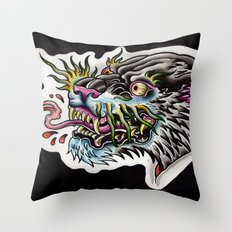 panther tongue Throw Pillow