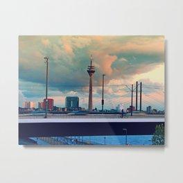 Düsseldorf Panorama Metal Print