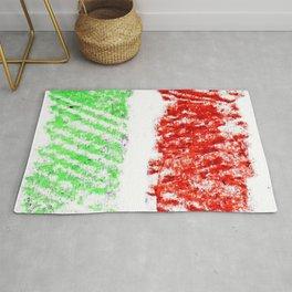 flag of Italia chalk 2- Italy,Italia,Italian,Latine,Roma,venezia,venice,mediterreanean,Genoa,firenze Rug