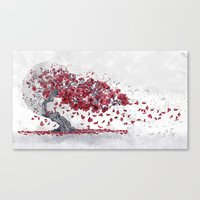 cherry blossom Canvas Prints featuring Cherry blossom by Marine Loup