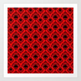 Scarlet Damask Art Print