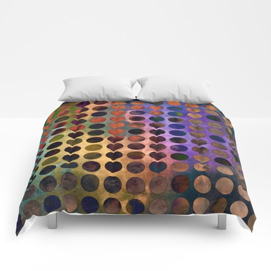 MELANGE of VIOLET and RUST Comforters