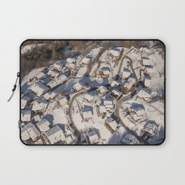 mountain village from the sky Laptop Sleeve