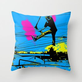 Tailgating - Stunt Scooter Tricks Throw Pillow
