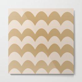 Fall Feels Good Pattern Metal Print
