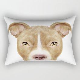 Pit Bull light Brown 2, Original painting by miart Rectangular Pillow