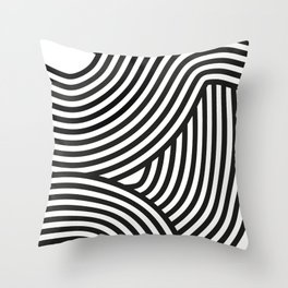 Moving lines Throw Pillow