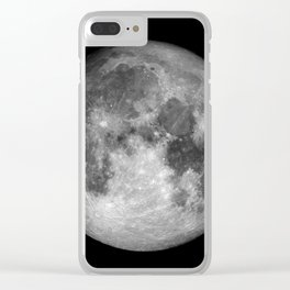 Moon Full Clear iPhone Case