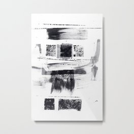 ink explorations (070) - abstract black india ink painting Metal Print