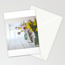 Foraged Spring Blooms in Mason Jars Stationery Cards