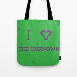 I heart The Unknown Tote Bag