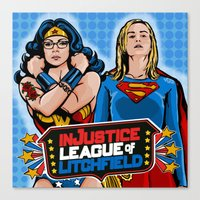 justice Canvas Prints featuring Justice  by Vague