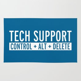 Tech Support Funny Quote Rug