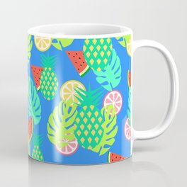 Watermelons and pineapples in blue Coffee Mug