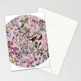 Bird menagerie mauve Stationery Cards