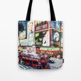 Times Square II (digital fine marker repaint) Tote Bag