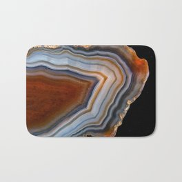 Layered agate geode 3163 Bath Mat